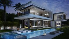 A modern 60,000 s.f. design from the office of IR Architects in the beautiful Hollywood Hills.