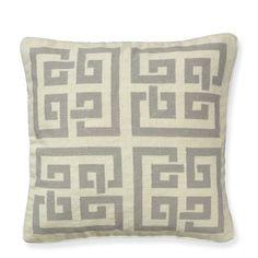 Geo Maze Needlepoint Pillow Cover #williamssonoma