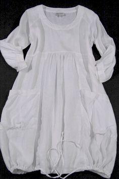 MASAI Clothing Leinenkleid 100% Leinen ausgefallene Kleid Weiss Gr. L | eBay