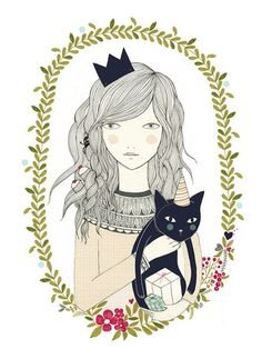 Crazy Cat Lady Illustration