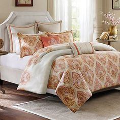 HH Kalia 300-Thread Count Sateen Reversible Bedding Collection