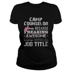 Awesome Camp Counselor T Shirts, Hoodies. Check Price ==► https://www.sunfrog.com/Jobs/Awesome-Camp-Counselor-Shirt-Black-Ladies.html?41382