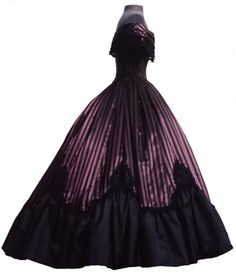 historical 1860 ball gown