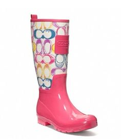 Coach Rainboots....For sure! Perfect for living in Oregon
