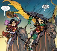 Adventures-of-the-Super-Sons/Issue-9 Batman And Catwoman, Batman Robin, Marvel Dc Comics, Damian Wayne, Talia Al Ghul, Batman Family, Dc Characters, Detective Comics, Dc Heroes