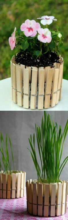 Clothespin Flower Pot – You Can Do It Yourself