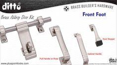 Front Foot-Plus Point Cabinet Handles, Door Handles, Door Kits, Door Stopper, Door Pulls, Door Locks, Brass, Doors, Design