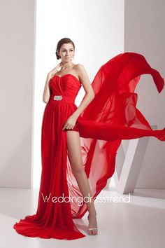 Beaded Strapless A-Line Split Front Evening Gown http://www.weddingdresstrend.com/en/beaded-strapless-a-line-split-front-evening-gown.html #prom dress