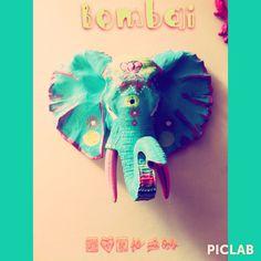 Elefante decorativo de la línea bombai por Rosa Salvaje