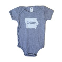 The Iowa Home T baby onesie is the perfect way for an infant to show off the state they call home. And for what it's worth, they are absolutely adorable!