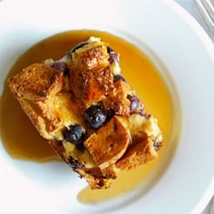 Orange-Blueberry Baked French Toast Make Ahead Breakfast, Healthy Breakfast Recipes, Healthy Baking, Brunch Recipes, Free Breakfast, Breakfast Time, Healthy Food, Brunch Ideas, Gluten Free French Toast