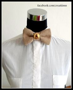 Button Bow Tie # gold button