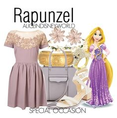 """Rapunzel"" by aliceindisneyworld ❤ liked on Polyvore featuring Disney, Satya Jewelry, Rebecca Minkoff, Ivanka Trump, Lady Fox, Edition, Bling Jewelry, women's clothing, women and female"