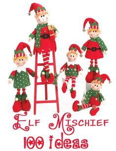 100 Mischievous ELF Ideas - Design Dazzle #elfideas #mischievouselfideas