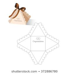 Box Template : images, photos et images vectorielles de stock Diy Gift Box, Diy Box, Toy Trumpet, Printable Box, Box Patterns, Paper Gift Bags, Origami Box, Craft Box, Box Packaging