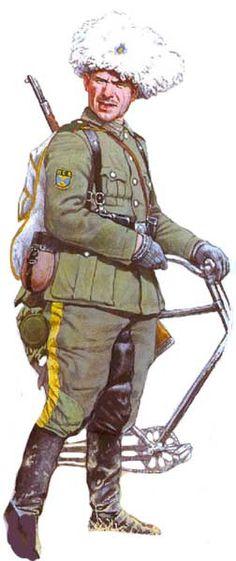 Kozak 2 batalionu 2 pułku syberyjskiego, 1943-1945