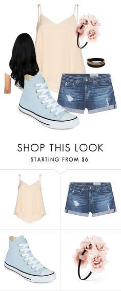 """Brooklyn's Summer Escape"" by lovelyloonylovegood on Polyvore featuring Alice + Olivia, AG Adriano Goldschmied, Converse, Forever 21 and Vita Fede"