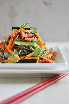 Anja's Food 4 Thought: Peanut Soba Noodle Salad