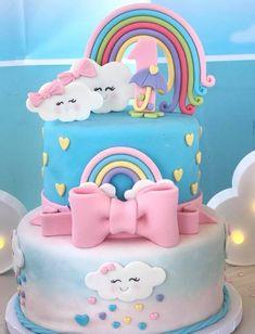 Baby Girl Birthday Theme, Unicorn Themed Birthday Party, Baby Birthday Cakes, First Birthday Parties, Birthday Party Themes, First Birthdays, Birthday Ideas, Birthday Gifts, Elsa Cakes