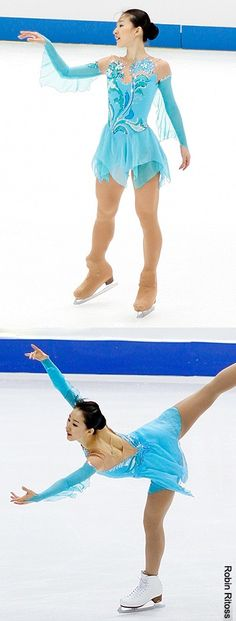 Yan Liu skating her short program at the 2009 NHK Trophy and 2010 World Championships.