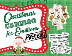 Here's a little Christmas goodie from ME to YOU :) I'm so honored that you're considering my products for your therapy! freebie- social skills Use these 35 irresistible and emotional Santa and Gingerbread Man cards to play Cariboo and talk about emotions/feelings, causes of feelings, and coping strategies!