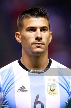 Victor Cuesta of Argentina looks on prior an International Friendly between Mexico and Argentina at Cuauhtemoc Stadium on July 2016 in Puebla, Mexico. Argentina Soccer, July 28, Colorado, Mexico, Love Of My Life, Fotografia, Aspen Colorado
