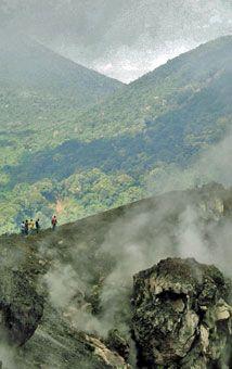 El cráter del volcán de Izalco