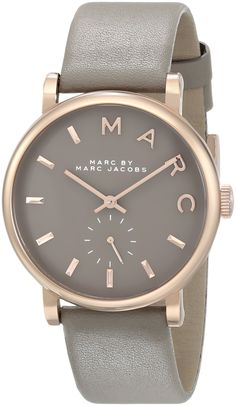 Marc Jacobs MBM1266 36mm Stainless Steel Case Beige Leather Mineral Women's Watch