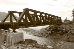A bridge that I photographed on my last trip to Alaska. I gave it a vintage look in photoshop.