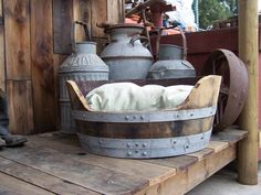 Pet Bed out of recycled wine barrel. Practical, yet makes a great statement in your home!