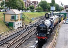 """Look who has blown into Swanage - it's Tornado (60163 A1 Steam Loco Trust)... just in time for our special 35th Birthday celebrations!! You can take to the controls of this special engine, or travel behind it 12-13 July, or climb on-board our luxuary dining train """"The Twlight Tornado"""" on 19th July. http://www.swanagerailway.co.uk/events/detail/swanage-35-gala"""