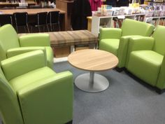 Colourful and comfy furniture grouping #collaborative