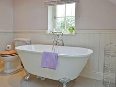 Bathroom with free standing bath | Oakleigh Cottage, Alne, near York