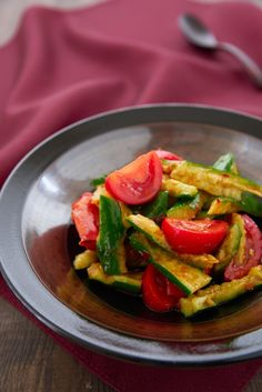 Spicy Cucumber Tomato Salad by Marc Matsumoto
