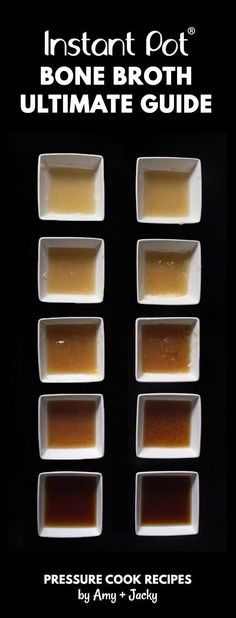 Learn how to make Nutrient Rich Instant Pot Bone Broth Recipe (Pressure Cooker Bone Broth) from our 10 Experiments! Super easy without simmering for hours.