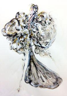 watercolour, acrylic, ink - 2014 #iamdanielfisher #art #fashionillustration