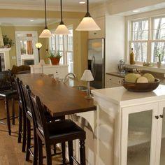 kitchen breakfast bar ideas | Kitchen Photos Wood Breakfast Bar Design Ideas, Pictures, Remodel, and ...