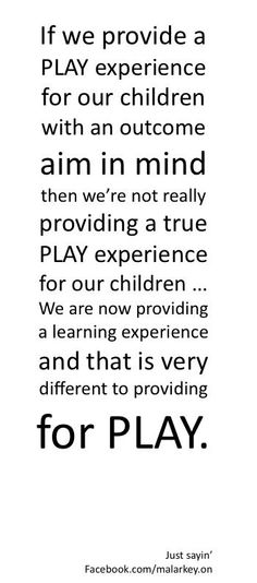 Play without an outcome in mind Learning Stories, Learning Quotes, Education Quotes, Early Childhood Quotes, Early Childhood Education, Inquiry Based Learning, Early Learning, Play Quotes, Visual Thinking