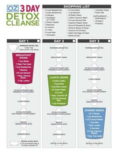 I survived the Dr Oz 3 Day Cleanse! Sharing my results and tips on (www.SoChiclife.com). This graphic played a big role in my success.