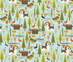 Spoonflower Fabric of the week voting: Beagles