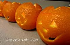 Dont spend up to $3 for each mini pumpkin! Make your own with orange peels.