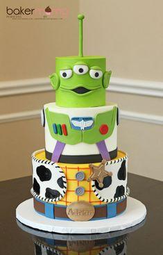 I hope you enjoy these amazing TOY STORY PARTY ideas. Bolo Toy Story, Toy Story Baby, Toy Story Theme, Toy Story Cakes, Toy Story Birthday Cake, 4th Birthday Cakes, Boy Birthday Parties, Birthday Ideas, Woody Cake
