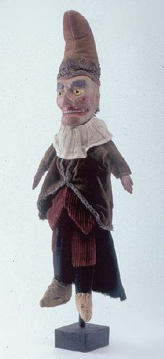 Punch, hand puppet, late 19th century. From the Paul McPharlin Collection of Puppetry.