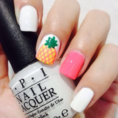 Pineapple nails! Perfect for summer or just for summer nostalgics :)