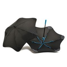 I live in Seattle, so rain is unavoidable. But here comes the unflappable BLUNT umbrellas from New Zealand.  This is how Jonathan Ives would have made an umbrella for Apple; and that's an understatement.  Now they come in Mad Men Party ready polka dot designs, too.  Highly, highly recommended!