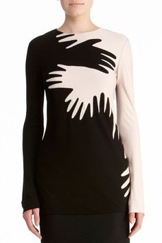 DVF | Shiloh Top in black/ivory, Fall 2012: Rendez-vous