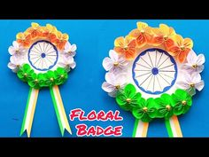 Republic Day Floral Badge Making Ideas Easy/Independence Day Crafts/Paper Flower Art - YouTube Paper Flower Art, Paper Flowers, Paper Art, Paper Crafts, Vj Art, Republic Day, Independence Day, Badges, Making Ideas