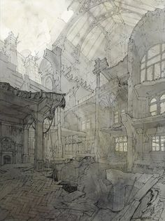 'Capriccio of Coal Exchange' by Dan Liu | via Drawing Architecture