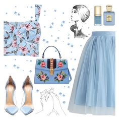 """My Way"" by apollinariya-664 ❤ liked on Polyvore featuring Chicwish, Gianvito Rossi, Gucci, Bella Bellissima, Dolce&Gabbana, dolceandgabbana, gucci and happyhour"