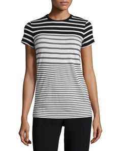 Engineered-Stripe Short-Sleeve Tee
